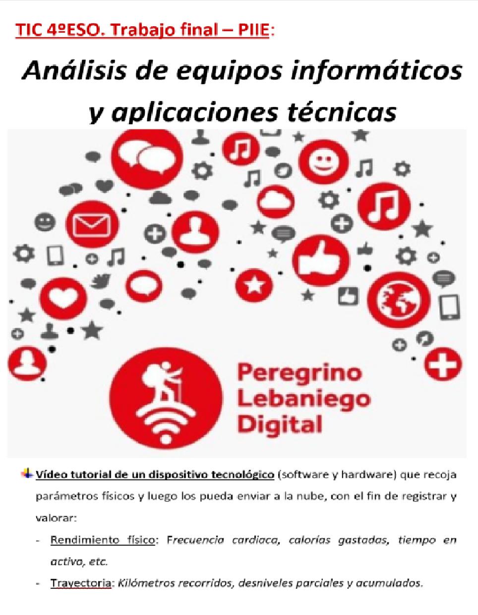 TID 4ºESO: Análisis de equipos informáticos y aplicacionestécnicas.
