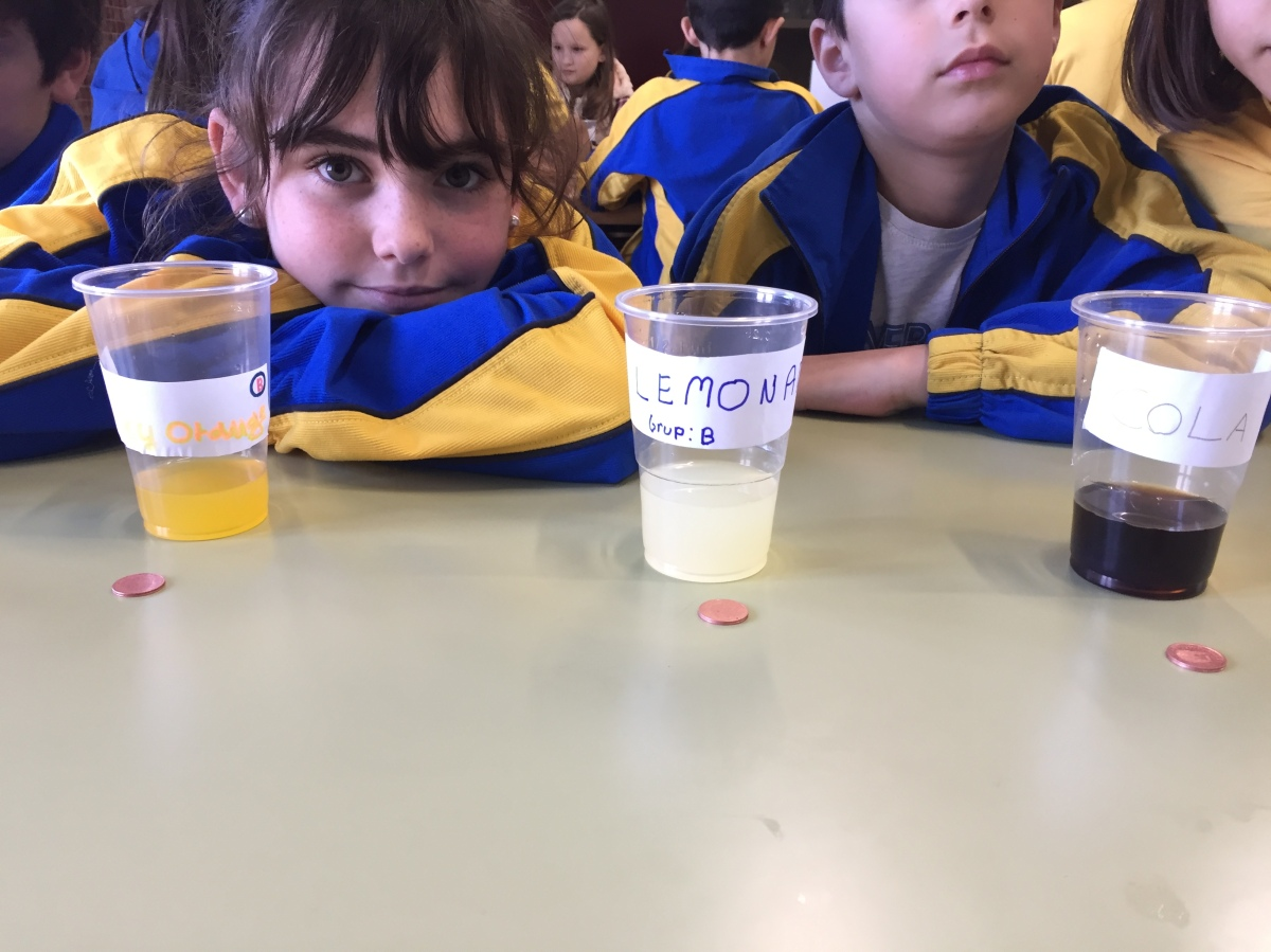Experiment time: soft drinks. 4º de Primaria